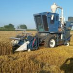 Almaco SPC 40 harvesting winter wheat yield trials