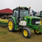 Soybean Breeder Plot Planter and Tractor in Transport Mode