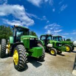 Our 3 Planting Tractors lined up after a wash